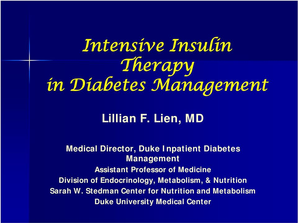 Professor of Medicine Division of Endocrinology, Metabolism, &