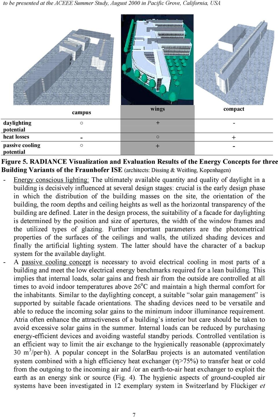 ultimately available quantity and quality of daylight in a building is decisively influenced at several design stages: crucial is the early design phase in which the distribution of the building