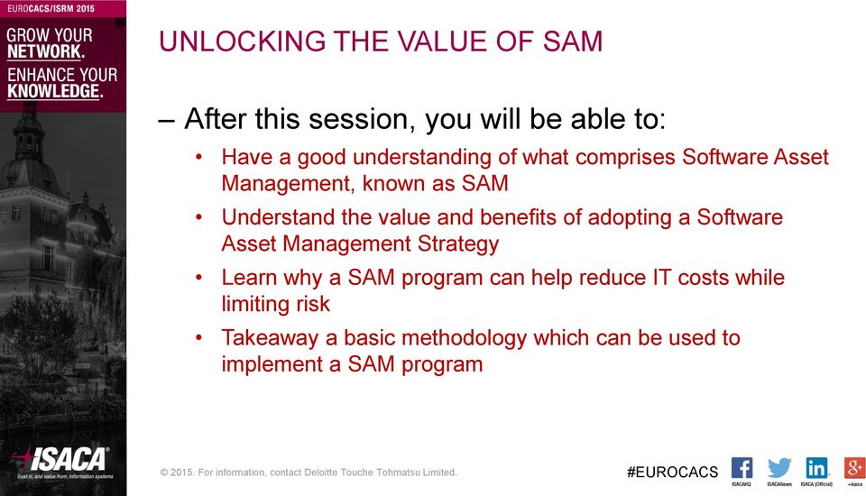 adopting a Software Asset Management Strategy Learn why a SAM program can help reduce IT costs