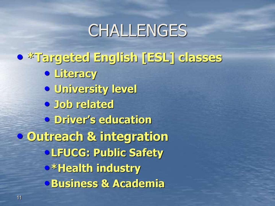 s education Outreach & integration LFUCG:
