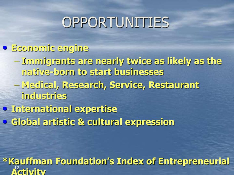 Restaurant industries International expertise Global artistic &