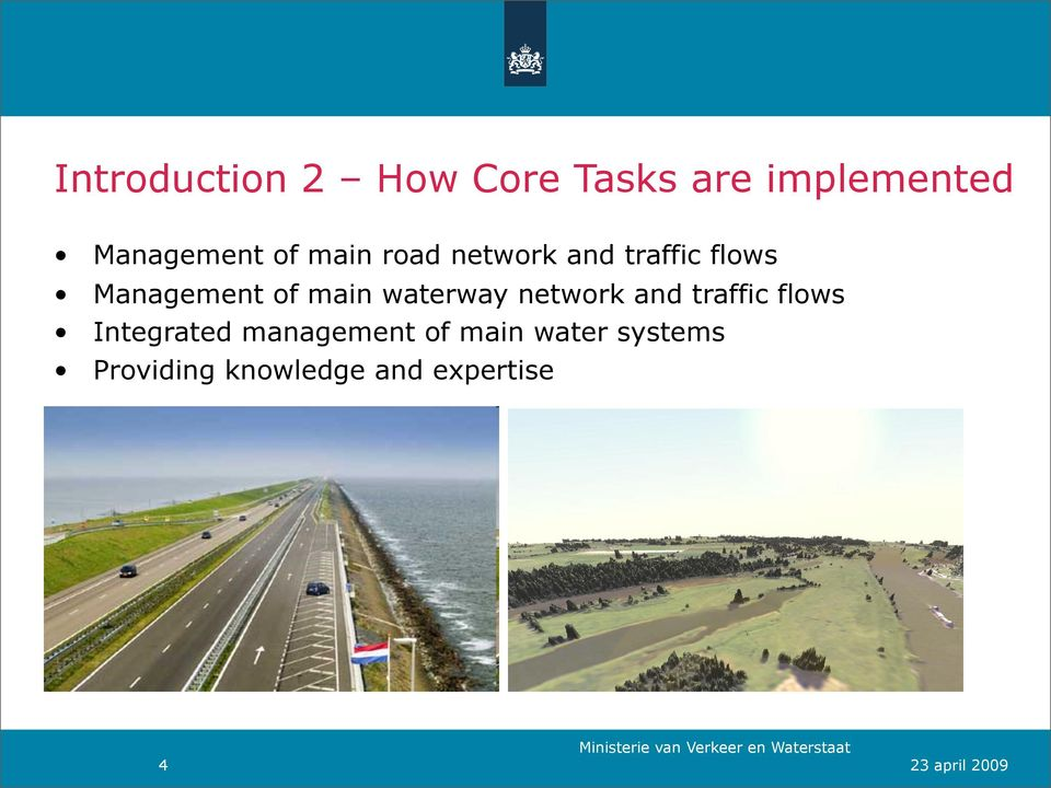waterway network and traffic flows Integrated management