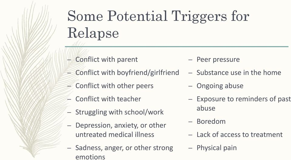 teacher Exposure to reminders of past Struggling with school/work abuse Depression, anxiety, or