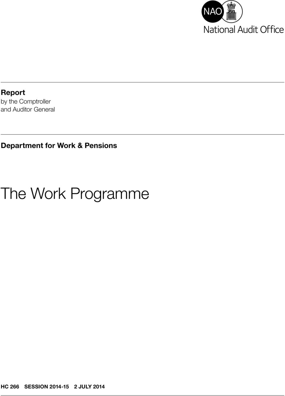 Work & Pensions The Work