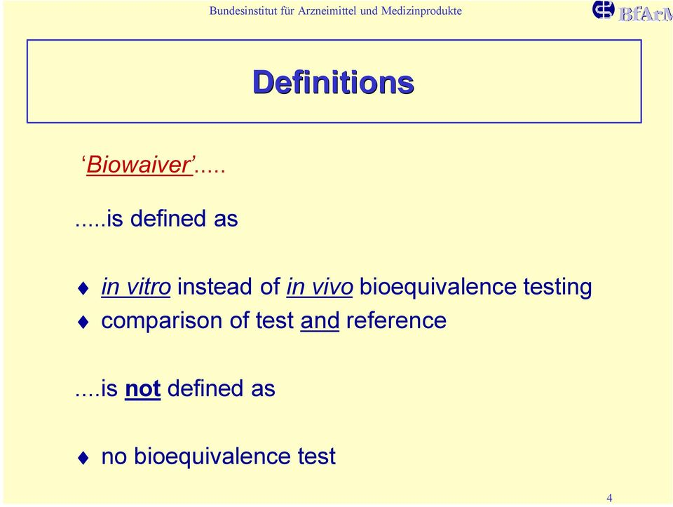vivo bioequivalence testing comparison of