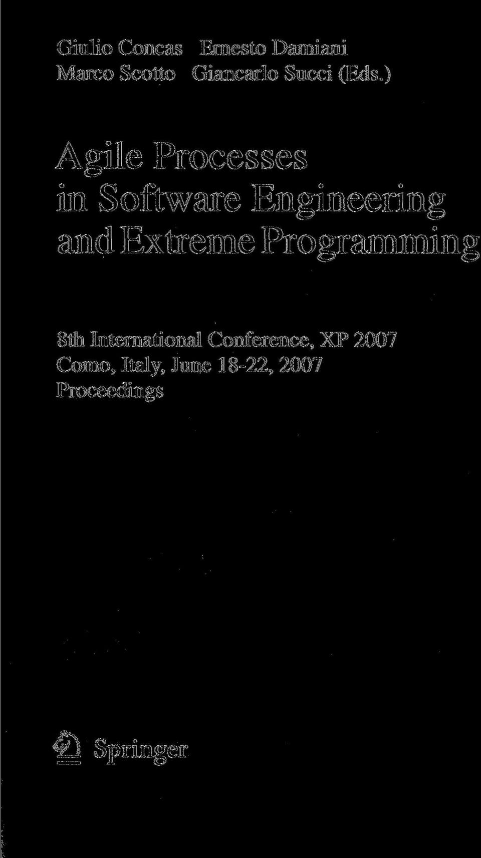) Agile Processes in Software Engineering and Extreme
