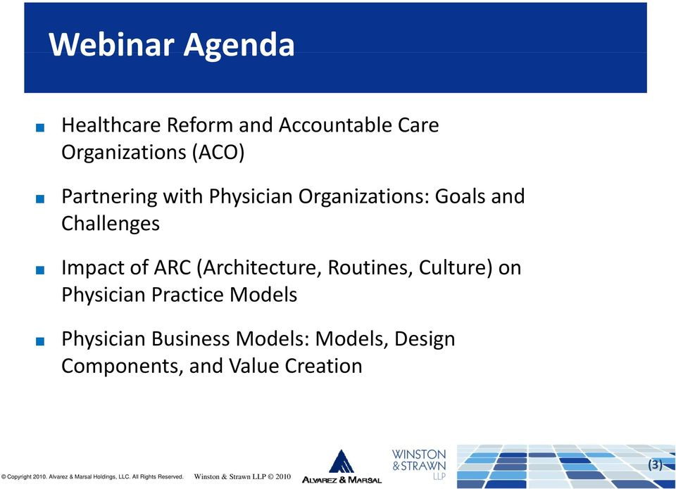 Impact of ARC (Architecture, Routines, Culture) on Physician Practice
