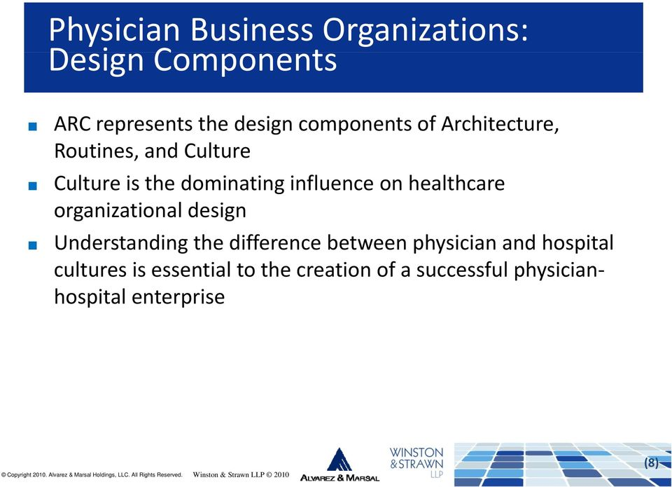 on healthcare organizational design Understanding the difference between physician