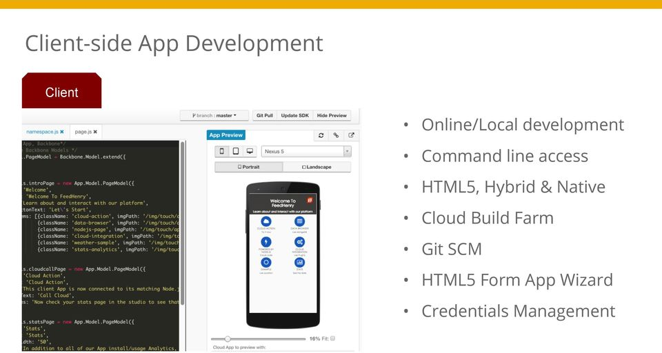 access HTML5, Hybrid & Native Cloud Build