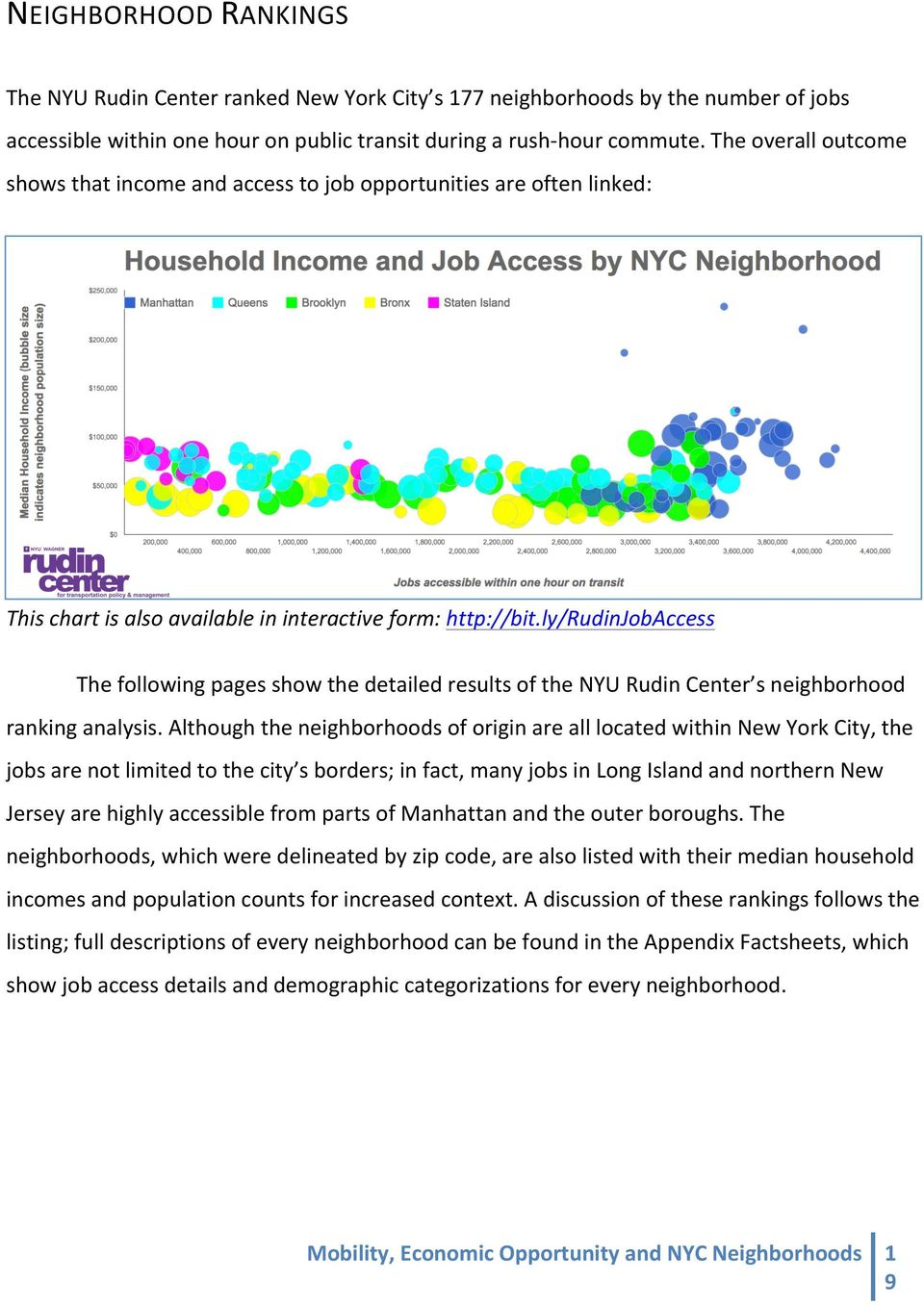 ly/rudinjobaccess The following pages show the detailed results of the NYU Rudin Center s neighborhood ranking analysis.