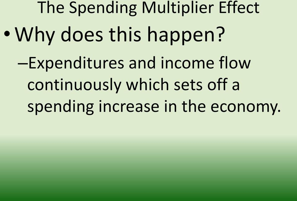 Expenditures and income flow