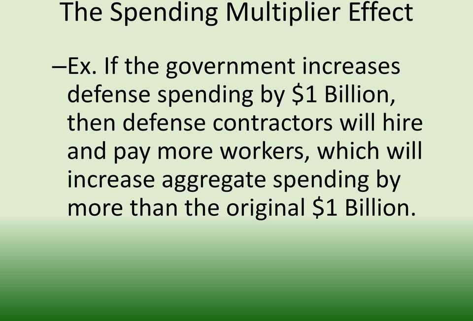 Billion, then defense contractors will hire and pay more