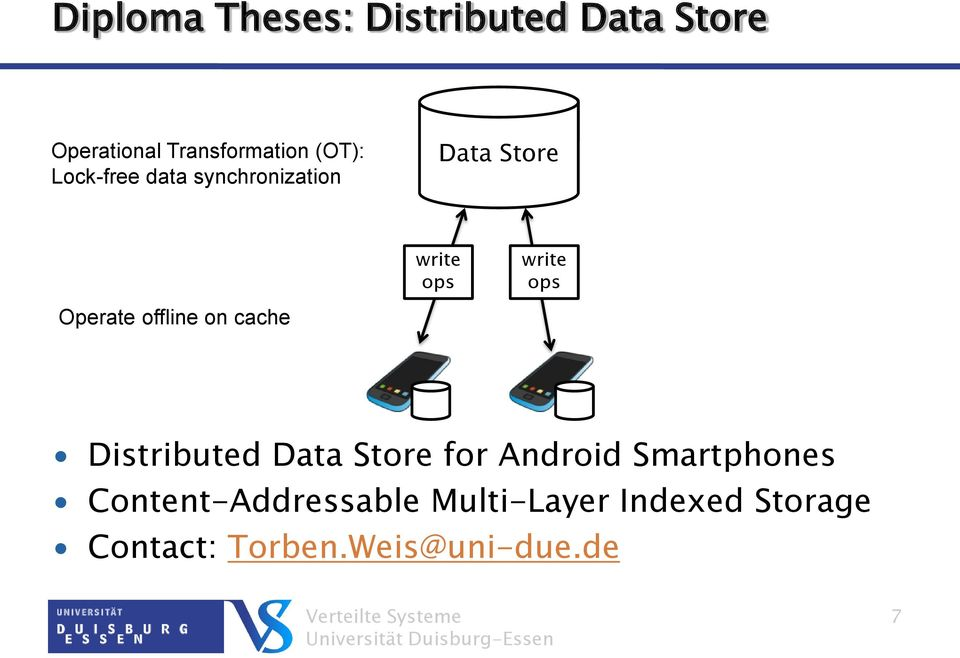 Operate offline on cache Distributed Data Store for Android Smartphones