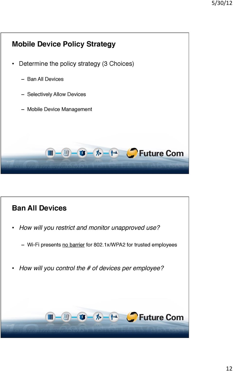 "Devices"" Mobile Device Management"" Ban All Devices!"
