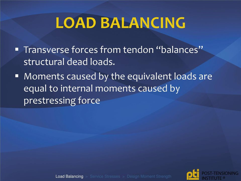 Moments caused by the equivalent loads are