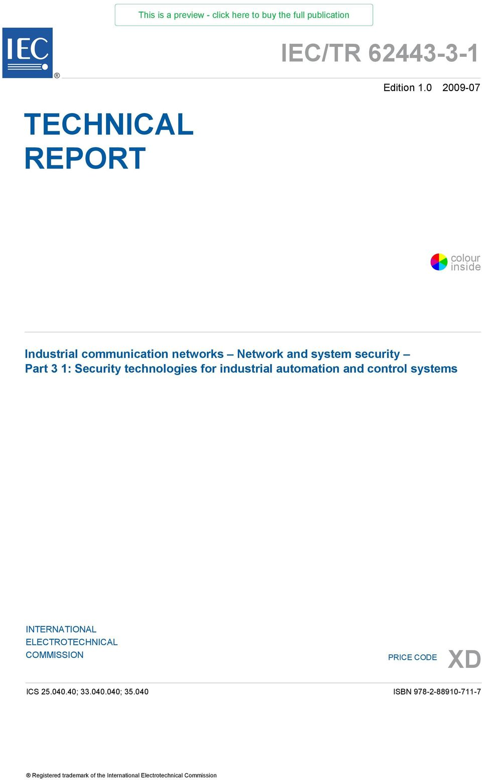 Security technologies for industrial automation and control systems INTERNATIONAL