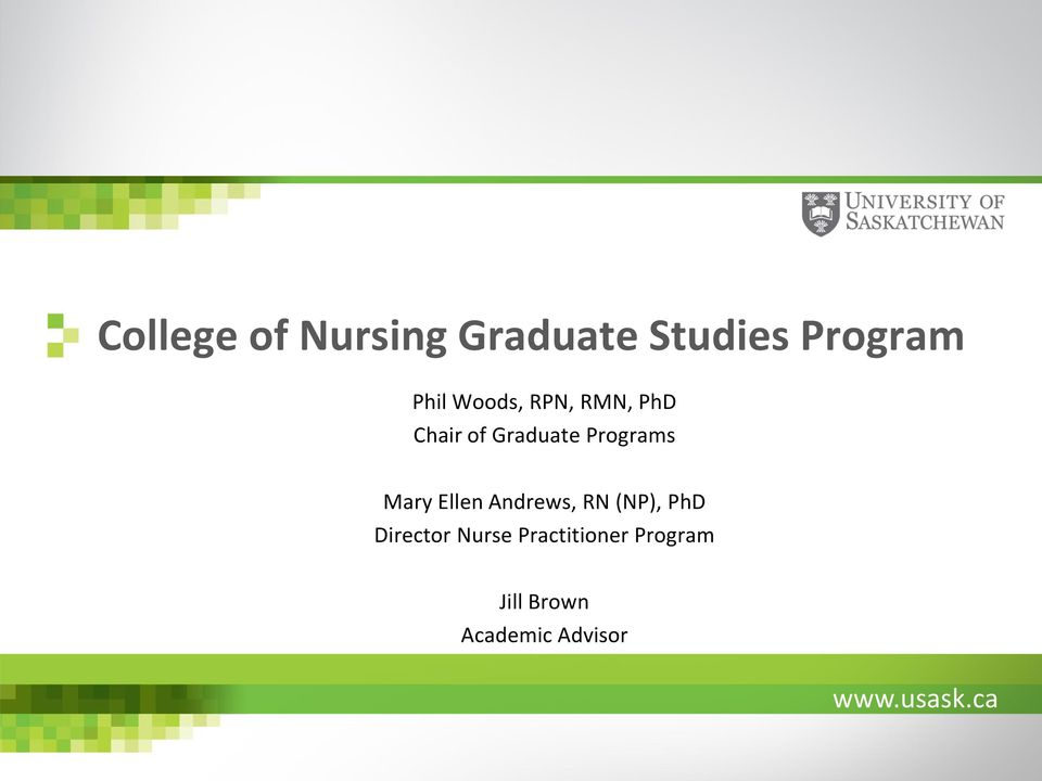 Mary Ellen Andrews, RN (NP), PhD Director Nurse