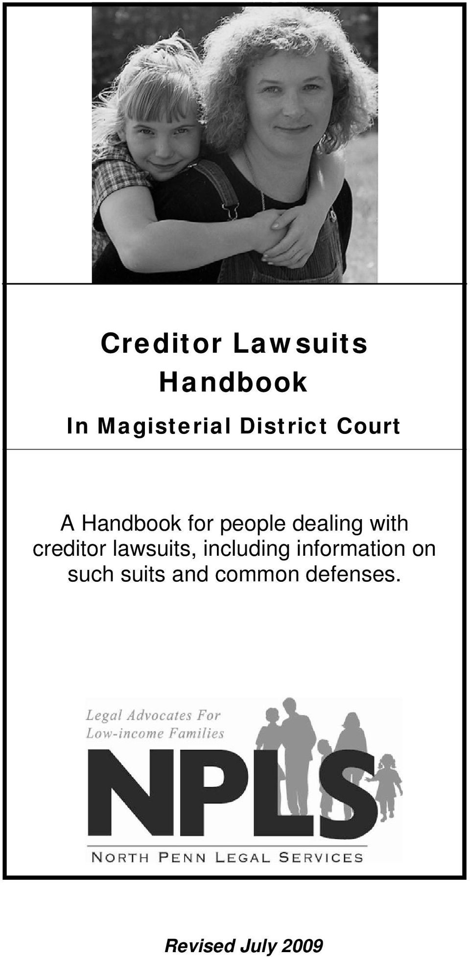 with creditor lawsuits, including information