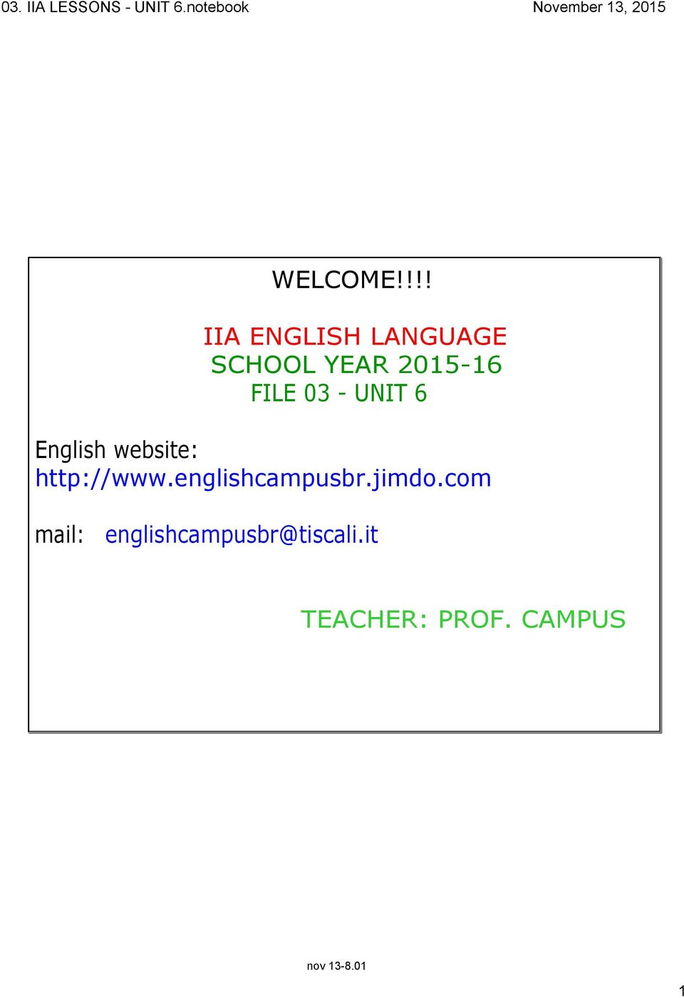 FILE 03 UNIT 6 English website: http://www.