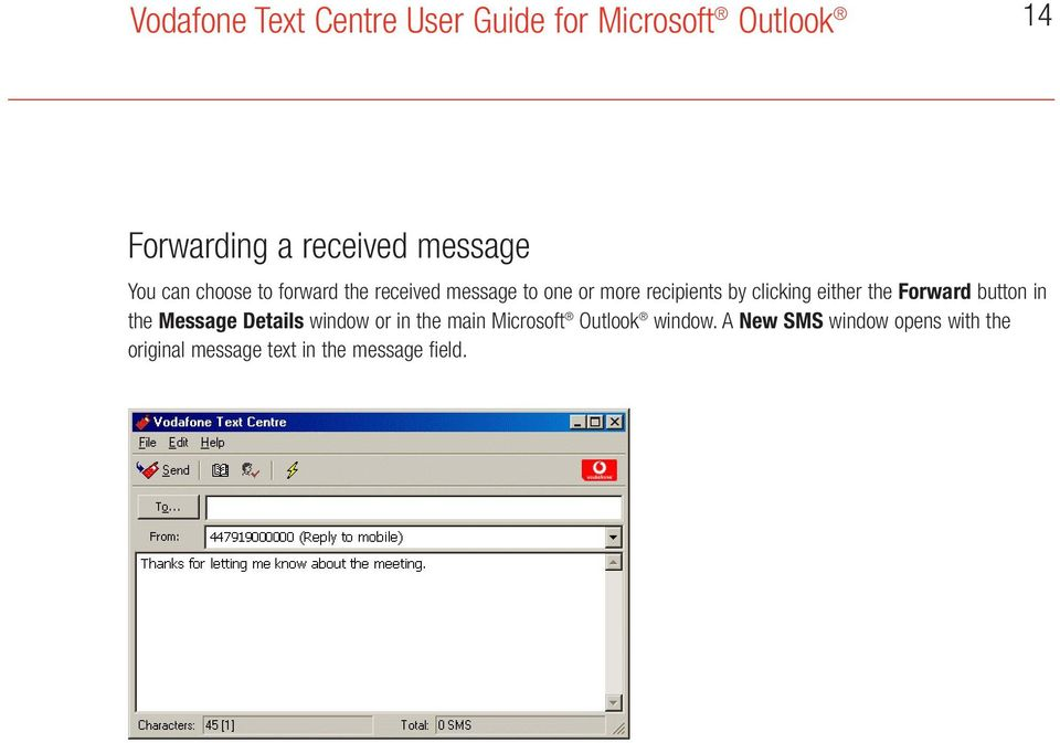 in the Message Details window or in the main Microsoft Outlook window.