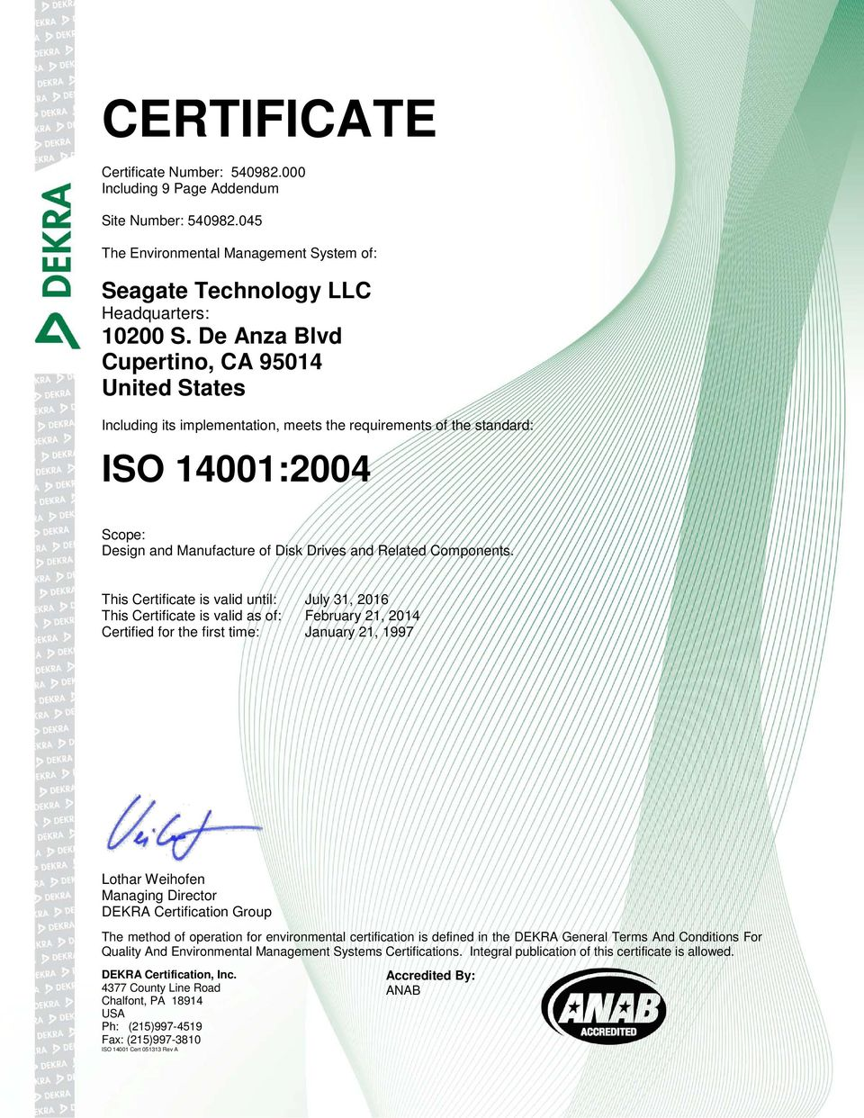 045 Seagate Technology LLC
