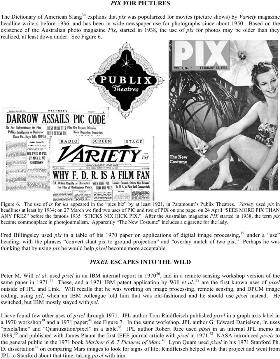 See Figure 6. Figure 6. The use of ix for ics appeared in the pics biz by at least 1921, in Paramount s Publix Theatres.