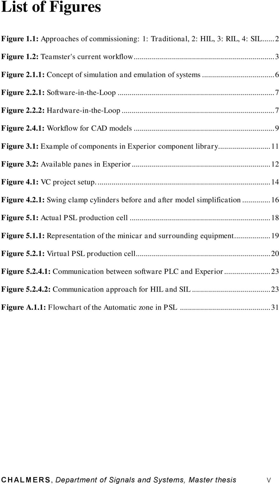 11 Figure 3.2: Available Panes In Experior... 12 Figure 4.1