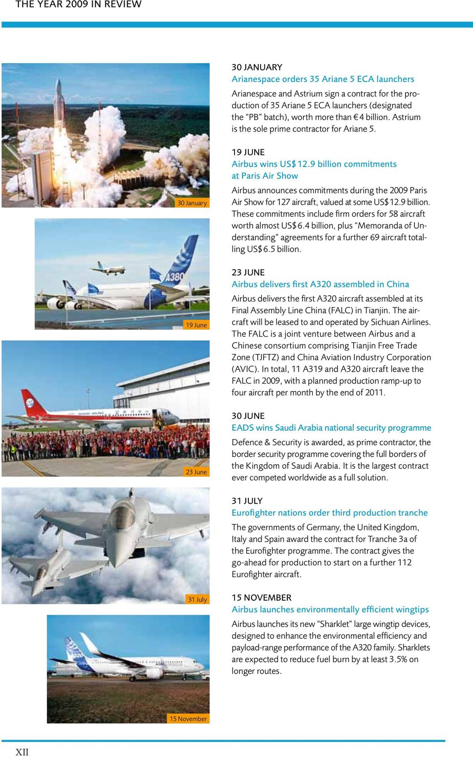 9 billion commitments at Paris Air Show Airbus announces commitments during the 2009 Paris Air Show for 127 aircraft, valued at some US$ 12.9 billion. These commitments include firm orders for 58 aircraft worth almost US$ 6.