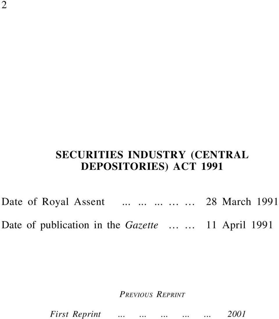........ 28 March 1991 Date of publication in the