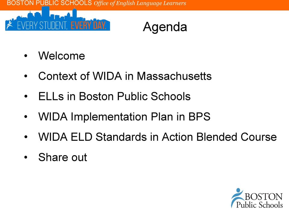 Schools WIDA Implementation Plan in BPS