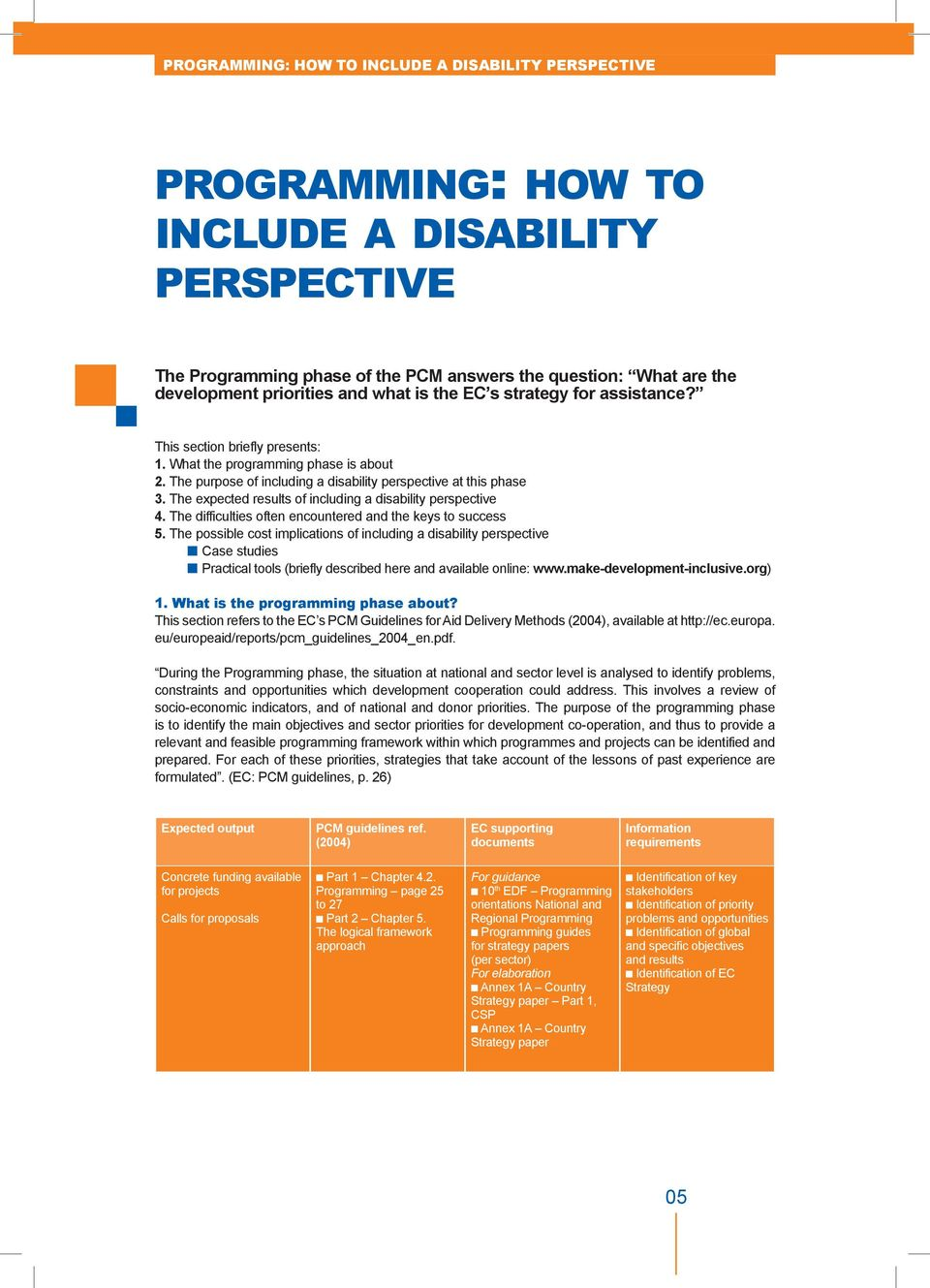 The expected results of including a disability perspective 4. The difficulties often encountered and the keys to success 5.