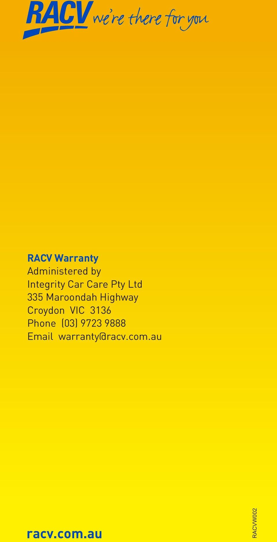 Croydon VIC 3136 Phone (03) 9723 9888