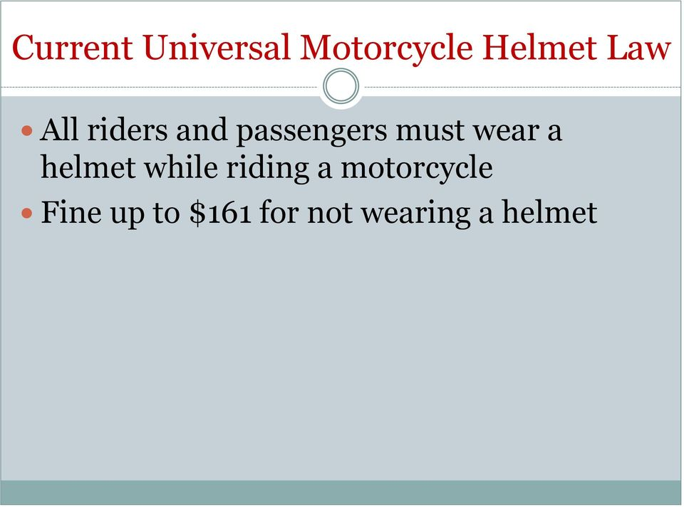 wear a helmet while riding a