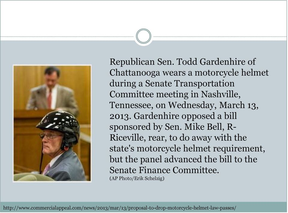 Tennessee, on Wednesday, March 13, 2013. Gardenhire opposed a bill sponsored by Sen.