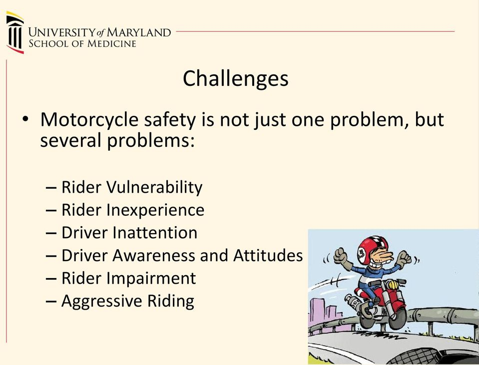 Vulnerability Rider Inexperience Driver