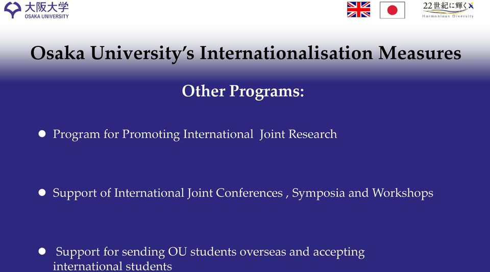 International Joint Conferences, Symposia and Workshops Support