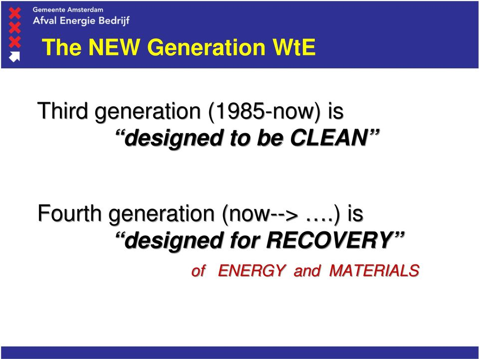 be CLEAN Fourth generation (now-->.