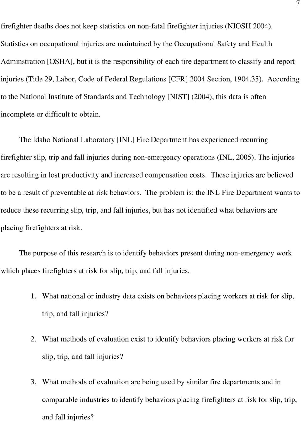 (Title 29, Labor, Code of Federal Regulations [CFR] 2004 Section, 1904.35).