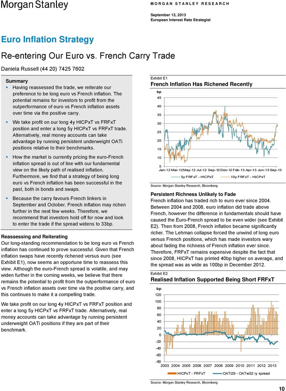 The potential remains for investors to profit from the outperformance of euro vs French inflation assets over time via the positive carry.
