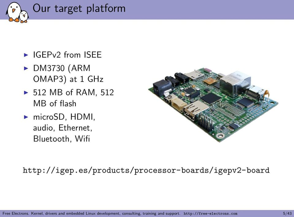 es/products/processor-boards/igepv2-board Free Electrons.