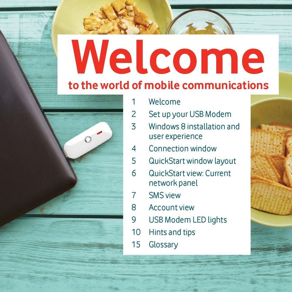window 5 QuickStart window layout 6 QuickStart view: Current network