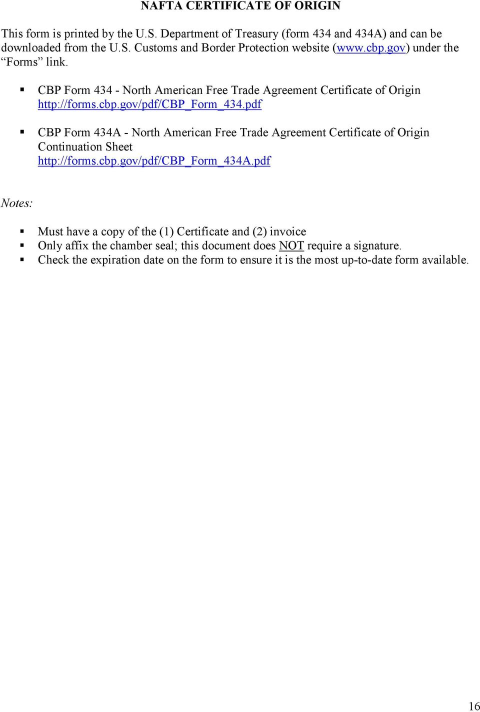 pdf CBP Form 434A - North American Free Trade Agreement Certificate of Origin Continuation Sheet http://forms.cbp.gov/pdf/cbp_form_434a.