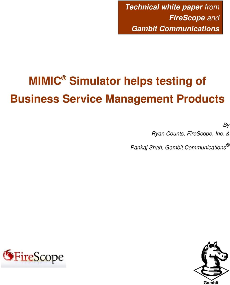 Business Service Management Products By Ryan