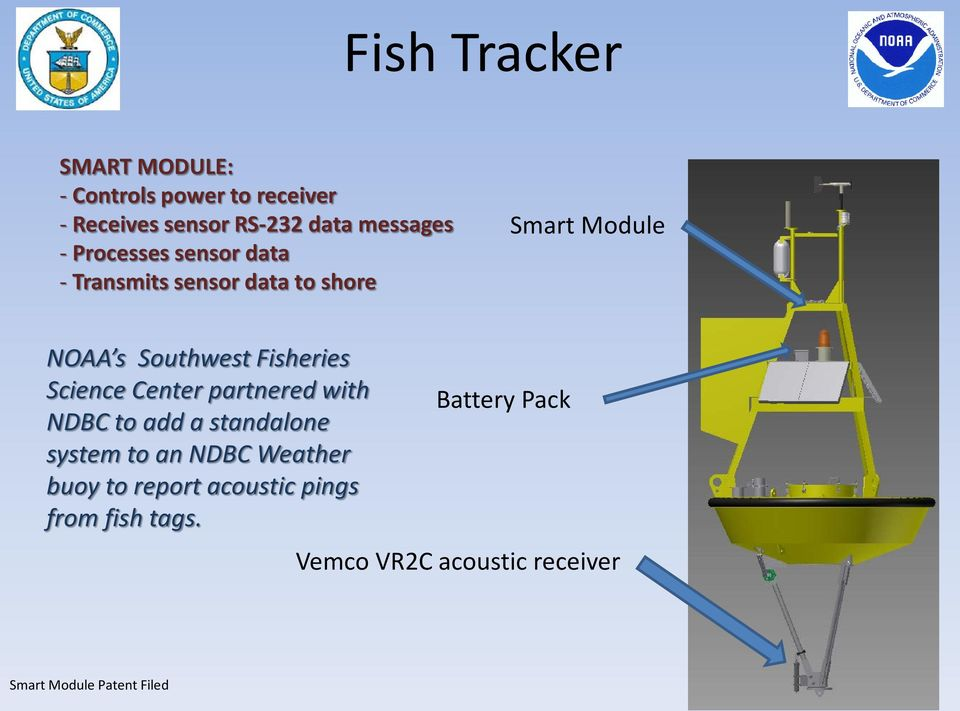 Southwest Fisheries Science Center partnered with NDBC to add a standalone system to an