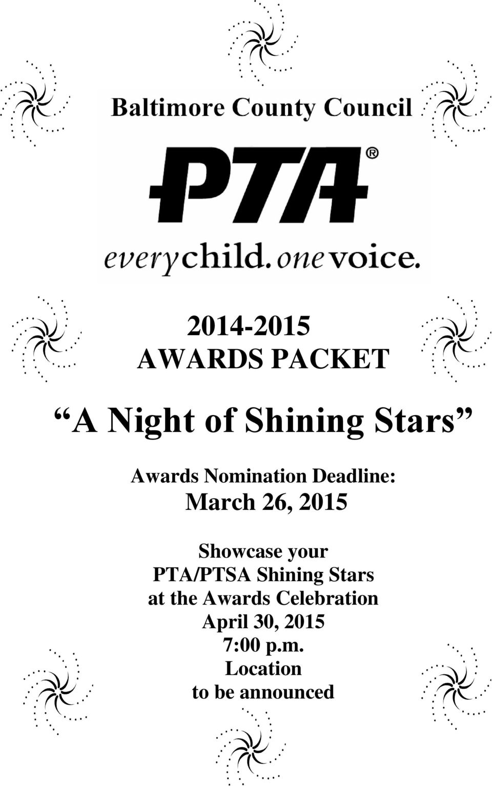 Showcase your PTA/PTSA Shining Stars at the Awards