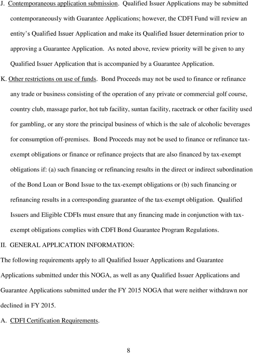 Funding Opportunity Title Notice Of Guarantee Availability Noga