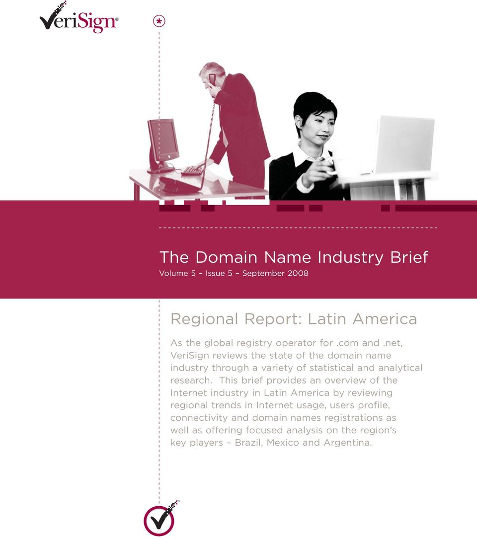 This brief provides an overview of the Internet industry in Latin America by reviewing regional trends in Internet usage, users