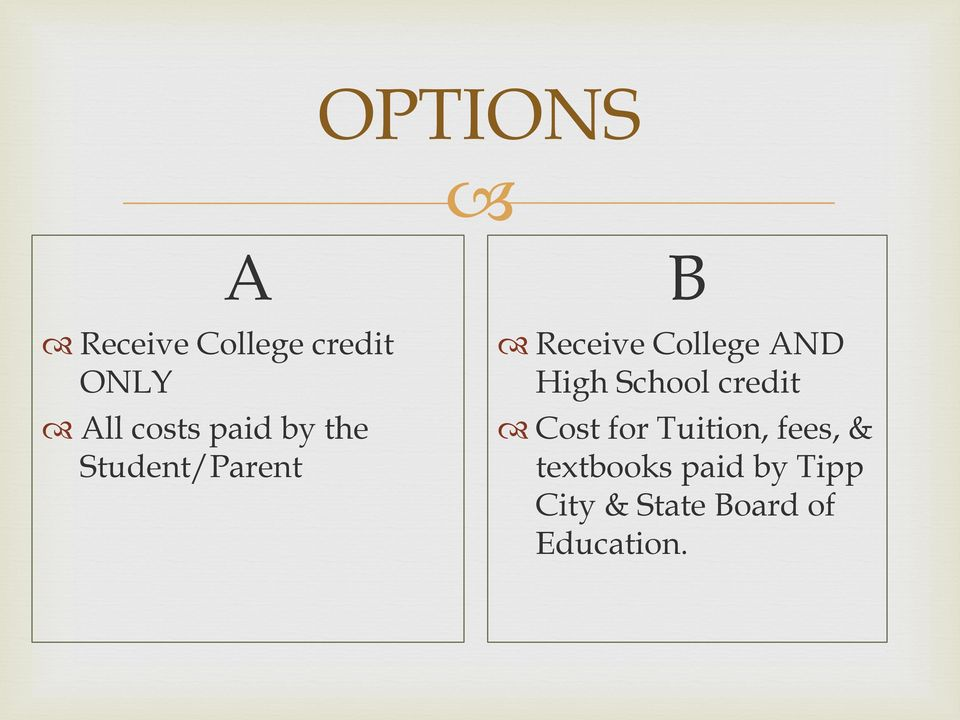 High School credit Cost for Tuition, fees, &