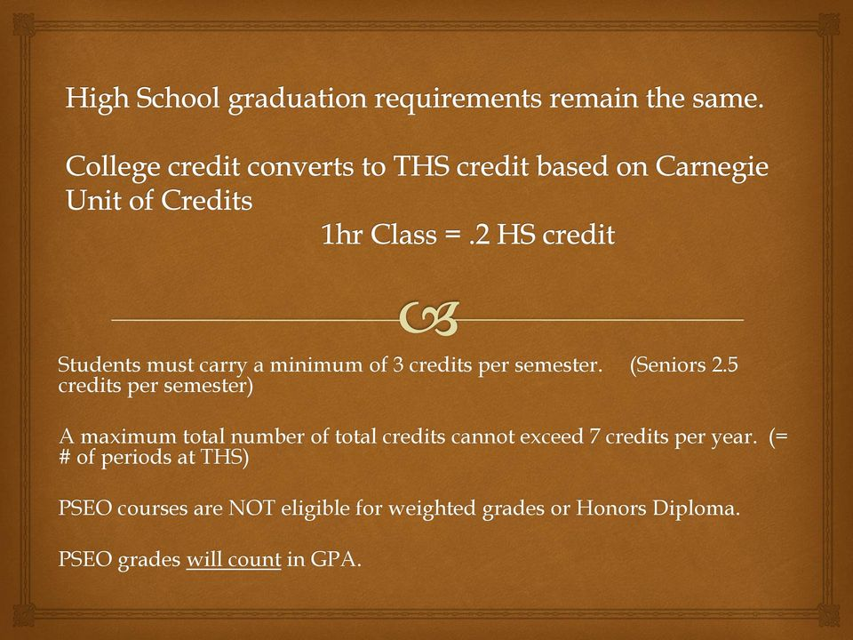 exceed 7 credits per year.