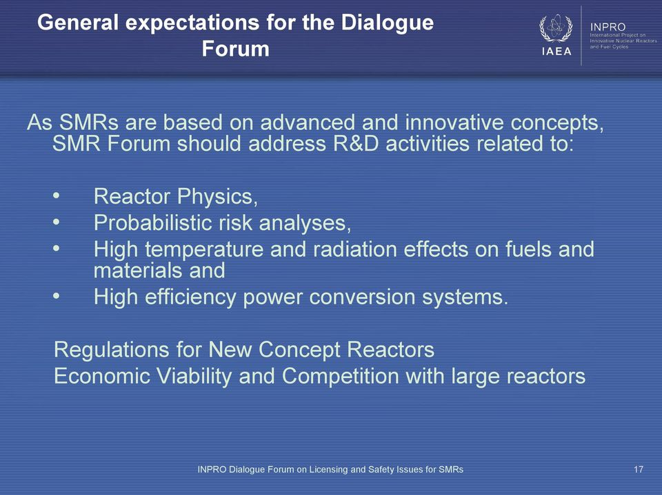 radiation effects on fuels and materials and High efficiency power conversion systems.